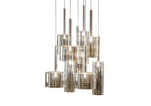 Dome Deco Hanglamp 'Pendle Glass' Taupe