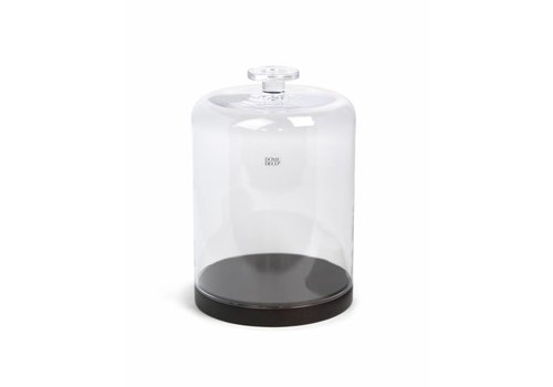 Dome Deco Glass Bell with wooden base - L