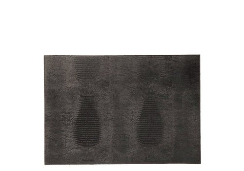 Dome Deco Placemat 'Lizard' Black - Set van 2