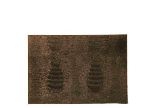 Dome Deco Platzdeckchen 'Lizard' Brown - Set aus 2