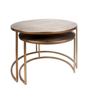 Dome Deco Round coffee tables 'Gold' set of 2