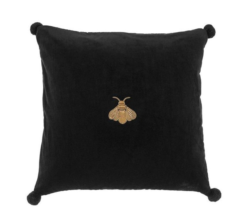 Pillow 'Lacombe' Black Velvet 60 cm