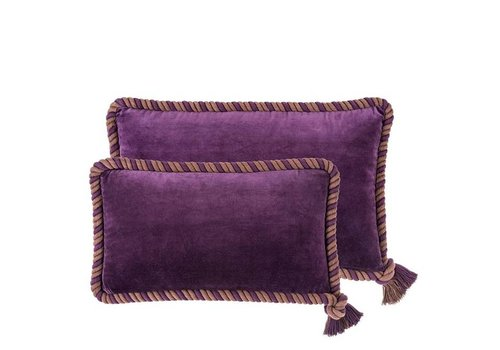 Eichholtz Kussen 'Christallo' Purple Velvet Set of  2
