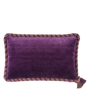 Eichholtz Pillow 'Christallo' Purple Velvet Set of  2