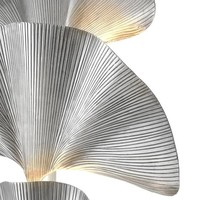 Floor Lamp 'Las Palmas' Tarnished Silver