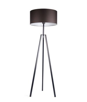 Dome Deco Floor lamp 'Fassani' with black iron base and brown shade