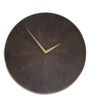 Dome Deco Wall clock Aluminium - Bronze (38cm D)