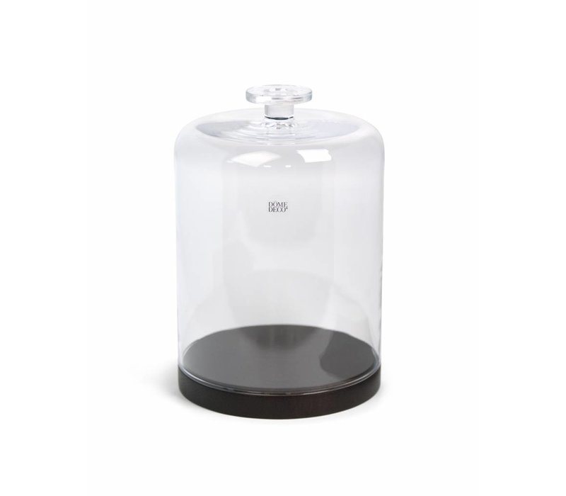 Glass Bell with wooden base - Medium