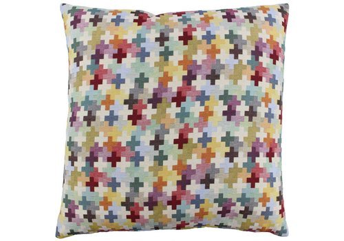 CLAUDI Design Kissen Biel Multicolor