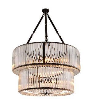 Eichholtz Chandelier Infiity Double  gunmetal finish, diameter 67cm