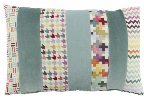 De Kussenfabriek Cushion Kim Multicolor Light Mint