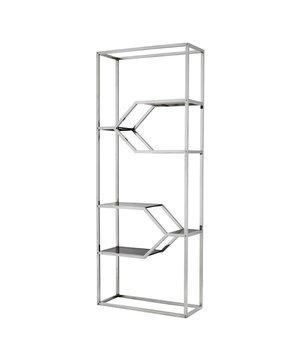 Eichholtz Cabinet Myconian is 230cm hoog en gemaakt van hoogglans RVS