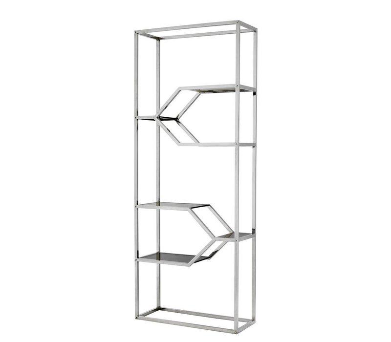 Cabinet Myconian is 230cm hoog en gemaakt van hoogglans RVS