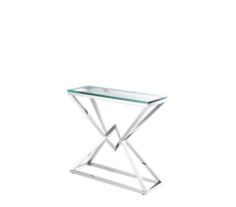 Glass Console table 'Connor' 90 x 30 x H. 82 cm