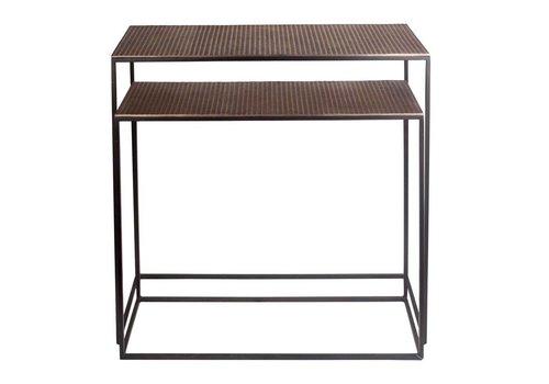 Dome Deco Console tafel Bronze - set van 2