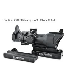 Phantom Tactical 4x32 Riflescope ACOG (Black Color) 4x32ABK