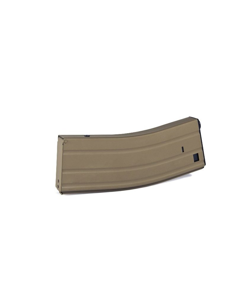 Evolution airsoft Flash Magazine zwart of tan M4/M16 Hicap 380bbs