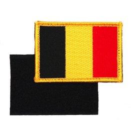 101 inc Embleem stof vlag Belgie met klitteband - Copy