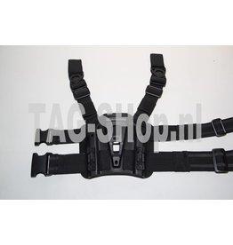 TAG-GEAR Blackhawk style legpanel Black of tan