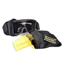 Phantom Tactical Goggle w/Three Lens Black, desert of Green
