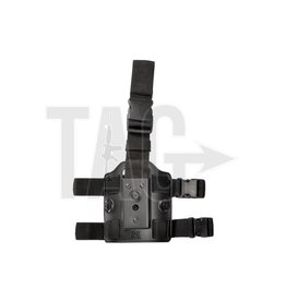 IMI Defense Tactical Drop Leg Platform en holster Black set