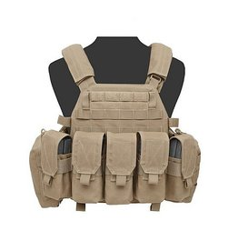 Warrior Assault Systeem DCS BASE M4 Closed Coyote brown W-EO-DCS-M4-M-CT W-EO-DCS-M4-L-CT