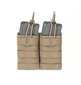 Warrior Assault Systeem Dubbel M4 Molle Open M4 5.56mm Mag Pouch / bungee Retention div kleuren W-EO-DMOP-5.56