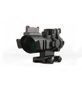 TAG-GEAR 4x32 dual ill. Tactical compact scope w/ fiber optic sight
