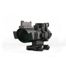 TAG-GEAR 4x32 dual ill. Tactical compact scope w/ fiber optic sight