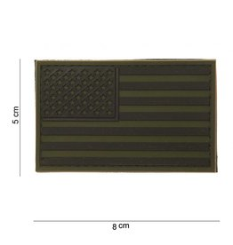 101 inc EMBLEEM 3D PVC USA SUBDUED