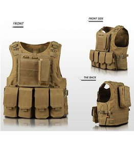 Camaleon Tactical Molle Vest Tan