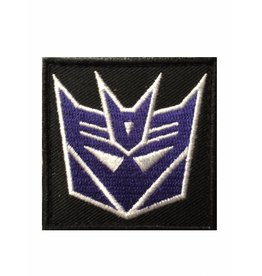 Camaleon Transformers Decepticons Patch Paars