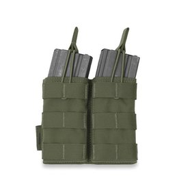 Warrior Assault Systeem Dubbel M4 Molle Open M4 5.56mm Mag Pouch / bungee Retention OD W-EO-DMOP-5.56 -OD