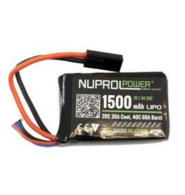 WE NP POWER 1500MAH 7.4V 20C PEQ MICRO LIPO