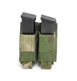Warrior Assault Systeem MOLLE Double 9mm Direct Action Pistol Mag Pouch (A-TACS FG)