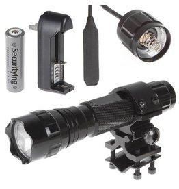 Ultrafire 501b xm-t6 2000 lumen zaklamp 5-mode flitslicht+ batterij + mount + remote switch
