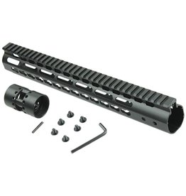 "Camaleon Free Float NSR 13.5"" Handguard One-piece Top Rail System KeyMod AR-15"