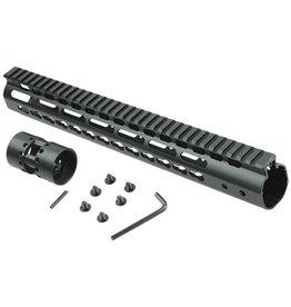 "Camaleon Free Float NSR 13.5"" Handguard One-piece Top Rail System KeyMod AR-15"