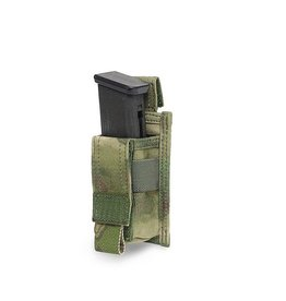 Warrior Assault Systeem MOLLE Single 9mm Direct Action Pistol Mag Pouch (ATAC-FG)