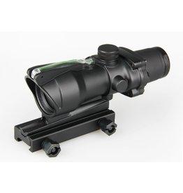 4x32 ACOG style optical scope w/ green fiber