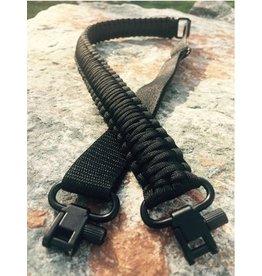 Camaleon Paracord Sniper sling met swivels Black