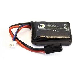 WE NP POWER 1200MAH 7.4V 30C PEQ MICRO LIPO