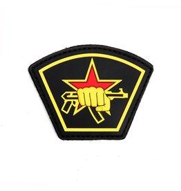 3D PVC Russische ster vuist geel