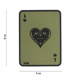 101 inc Harten AAS PVC patch Groen