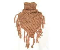 Kol/Poncho sjaal bruin