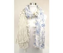 amoRcollections Zomerse sjaal met bloem/stipmotief