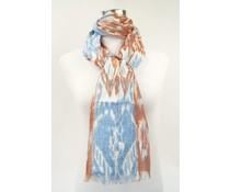 amoRcollections Mooie linnen sjaal met vrolijke print