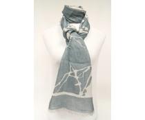 amoRcollections Heerlijk zachte sjaal met boommotief blauw