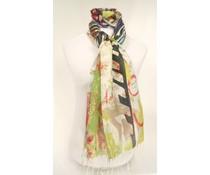 amoRcollections Multicolor sjaal met fantasieprint