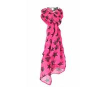 Roze sjaal met doodskoppen